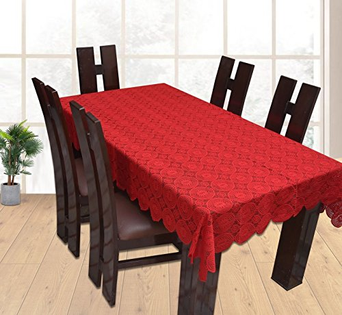 CASA FURNISHING Net Dining Table Cover for 6 Seater (Red, 60 x 90inches) Price & Reviews