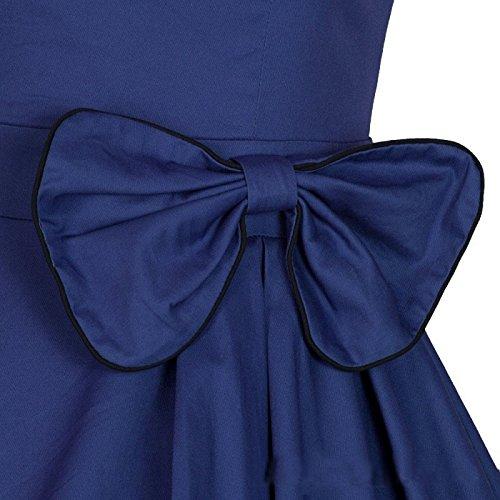 Eyekepper 1950s 1940s vintage inspiró amor del vestido de fiesta Azul