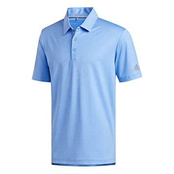 adidas Ultimate 2.0 Novelty Heather Polo, Real Blue Melange/Grey ...