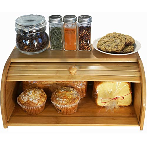 Wooden Bread Box Kitchen Counter Food Storage ()