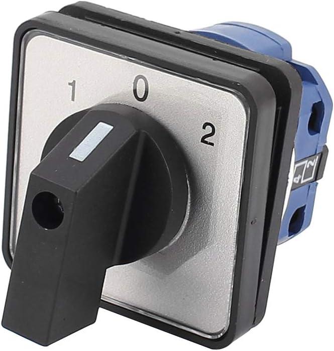 Umschalter 2 Position Drehschalter 8 Klemmen Verriegelung Nockenschalter