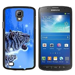 """Be-Star Único Patrón Plástico Duro Fundas Cover Cubre Hard Case Cover Para Samsung i9295 Galaxy S4 Active / i537 (NOT S4) ( Blue Tiger invierno impresiones Cub Nieve Naturaleza"""" )"""