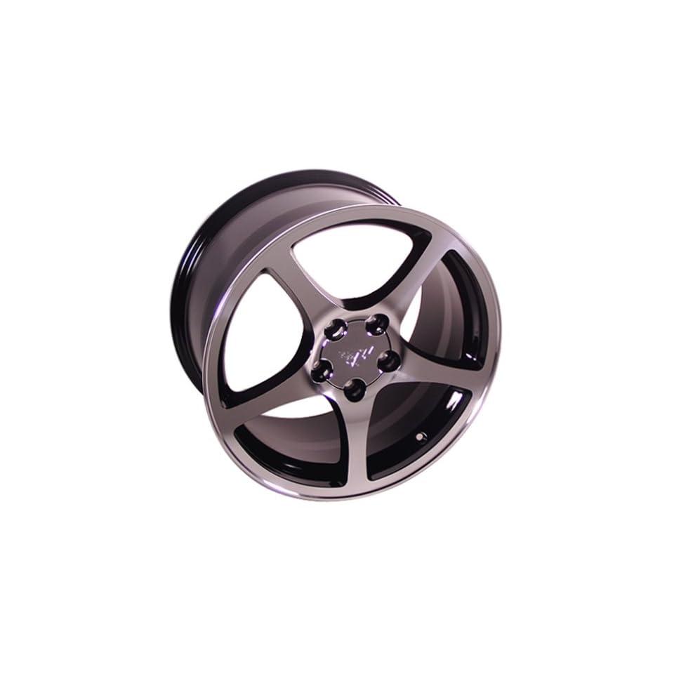 Chevy Camaro C5 Style Wheel Black Machined Wheels Rims 1988 1989 1990 1991 1992 1993 1994 1995 1996 1997 1998 1999 88 89 90 91 92 93 94 95 96 97 98 99
