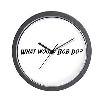 """CafePress Bob – ¿Qué hacer? Reloj de pared – Unique decorative 10 """""""