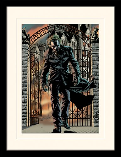 Batman The Joker Released Framed & Mounted Print - Overall Size: 36 x 46 cm (14 x 18 inches) Mount Size: 30 x 40 cm]()