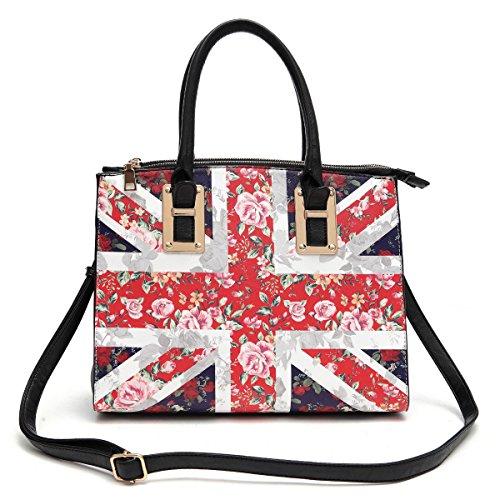 (b22-2)uk Flag Satchel Bag-dh012 (black)