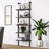 Nathan James 65501 Theo Wood Ladder Bookshelf, Bookcase, Nutmeg