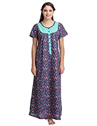 Clovia Women Cotton Printed Nighty