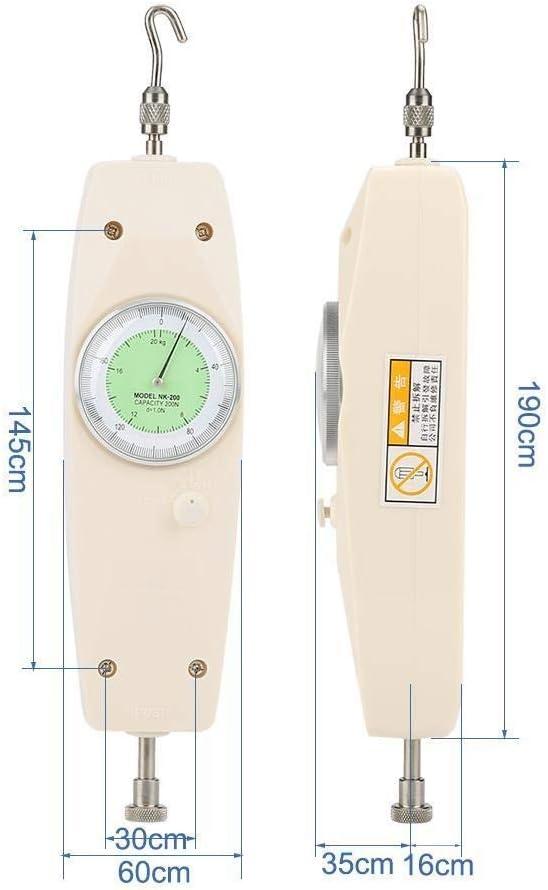 Broco 200N analogique Dynamom/ètre Force de mesure Instrument testeur Push Pull force Meter Gauge