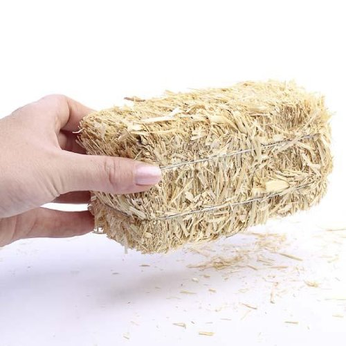 Package of 6 Mini Hay Bales Made of Real Dried Straw for Crafting, Embellsihing and Creating