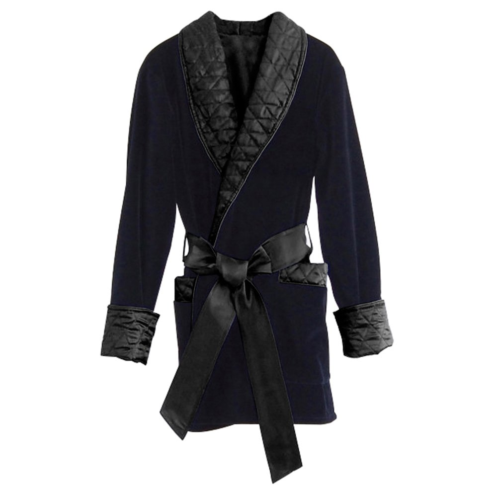 Regency New York Men's Smoking Jacket (X-Large, Midnight Navy)