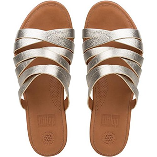 340d3e9c4 fitflop Women s Lumy Leather Slide Pale Gold Sandal  Amazon.ca ...