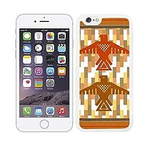 Funda carcasa TPU Gel para Apple iPhone 6S Plus diseño estampado indio totem borde blanco