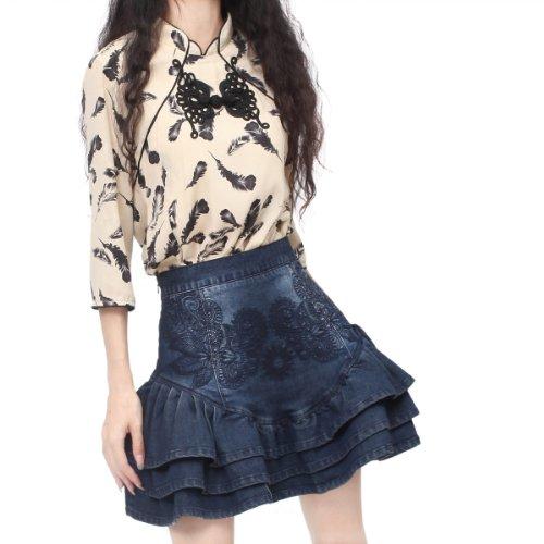b4ca029412 hot sale Artka Women's Versatile Frilled Embroidery Cotton Short Skirt