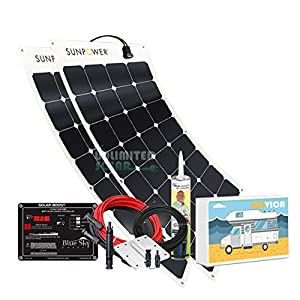 Unlimited Solar SUNVICA 200 Watt Flexible RV Solar Charging System, with Sunpower Solar Panels