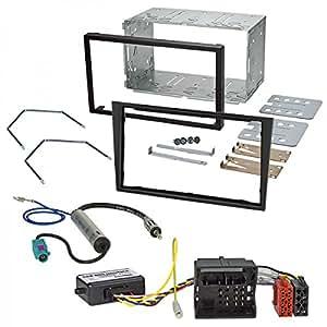 Baseline - Equipo de montaje de radio para Opel Astra H, Zafira B, Corsa D y Tigra Antara (adaptador de radio, interfaz bus CAN, caja y marco), color negro