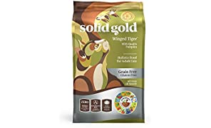 Solid Gold - Winged Tiger with Real Quail & Pumpkin - Grain Free & Gluten Free - Holistic Sensitive Stomach Dry Cat Food for Adult & Senior Cats - 6lb Bag