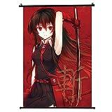 Pkiooi Akame ga Kill Anime Poster, Esdeath Akame Poster Bedroom Painting Wall Scroll Poster Wall Hanging Poster(30 x 45cm Akame)