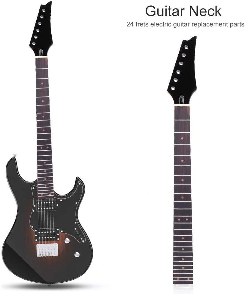 Dilwe Cuello Guitarra Neck Instrumento Musical, 24 Trastes Puntos ...