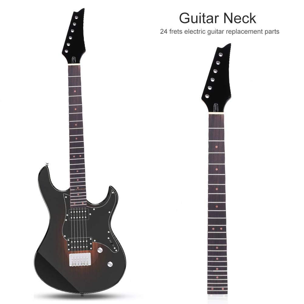 Dilwe Cuello para Guitarra Eléctrica, 24 Trastes Puntos de Marca Roja Mástil de Guitarra de Arce para Guitarras Eléctricas(Negro): Amazon.es: Deportes y ...
