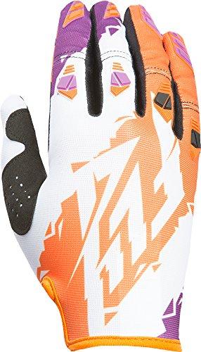 Fly Racing Unisex-Adult Kinetic Crux Gloves Orange/Purple Size 8 - Kinetic Race Gloves
