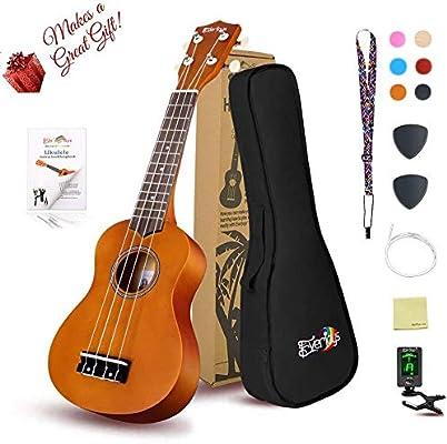 21inch Baosity Hawaii Guitar Case Ukulele Case w//Side Pocket String Instrument for Ukulele Black