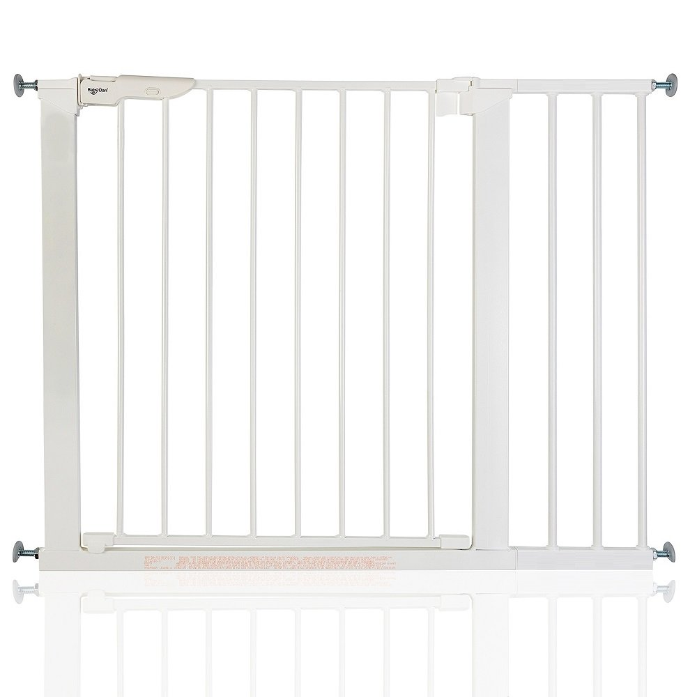 BabyDan Premier True Pressure Fit Baby Safety Stair Gate White All Widths (99cm-106.3cm)