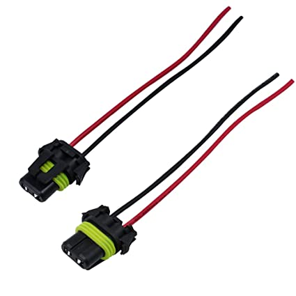 amazon com huiqiaods 2pcs 9006 hb4 bulbs socket female adapter sylvania 9006 bulbs huiqiaods 2pcs 9006 hb4 bulbs socket female adapter wiring harness connector for headlights or fog lights