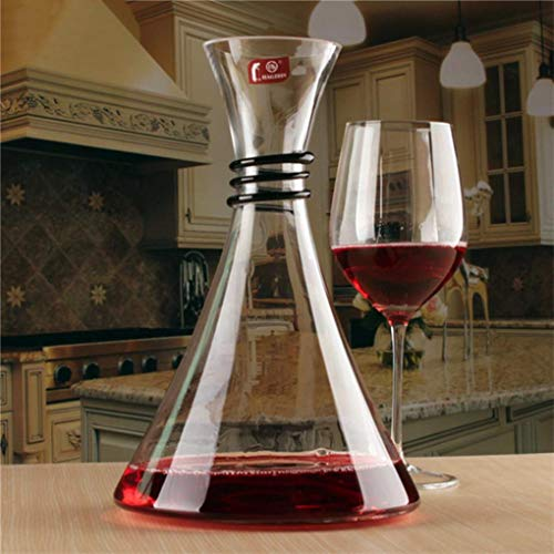 NUOLAWEIER 1800ml Lead Free Crystal Glass Red Wine Decanter Carafe Aerator Pourer from Yongse