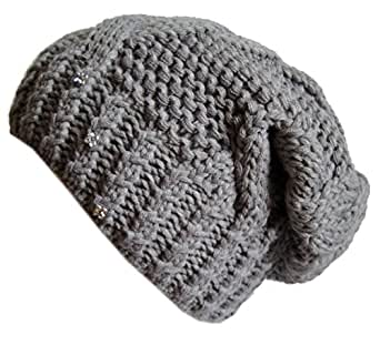 Frost Hats Winter Hat for Women GRAY Slouchy Beanie Hat