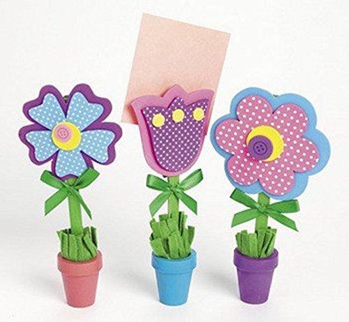 Otc Wooden Flower Recipe Holders Craft Kit X 3 - Note Holders Craft Kit