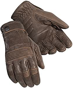 Cortech Men's Duster Leather Motorcycle Gloves (Brown, Small)