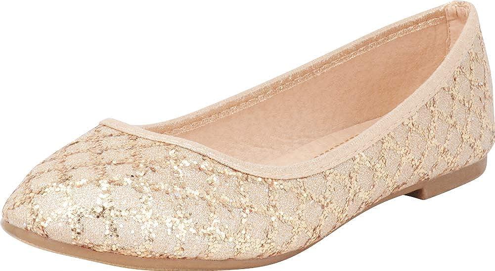 Cambridge Select Girls Slip On Glitter Crystal Rhinestone Dress Ballet Flat Toddler//Little Kid//Big Kid