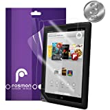 """Fosmon Crystal Clear Screen Protector Shield for Barnes & Noble NOOK HD+ 9"""" Tablet - 3 Pack"""
