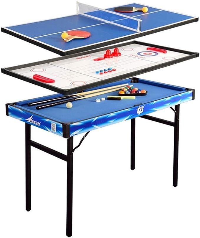 LCRACK 4 En 1 Multi Combo Sport Table, Máquina De La Diversión Operación Fácil Plegable De Billar, Hockey sobre Hielo Juego De Tejo, Ping Pong: Amazon.es: Hogar
