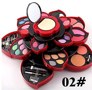 Buy Miss Rose Professional Makeup Set Big Flower Matte Shimmer Eyeshadow Blush Multifunctional Cosmetic Kit Tool Wish Mascara Online at Low Prices in India ...