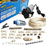 Hydrobreeze Misting System - 160 PSI Misting Pump - with Scale Inhibitor Filter - Push to Connect Fittings
