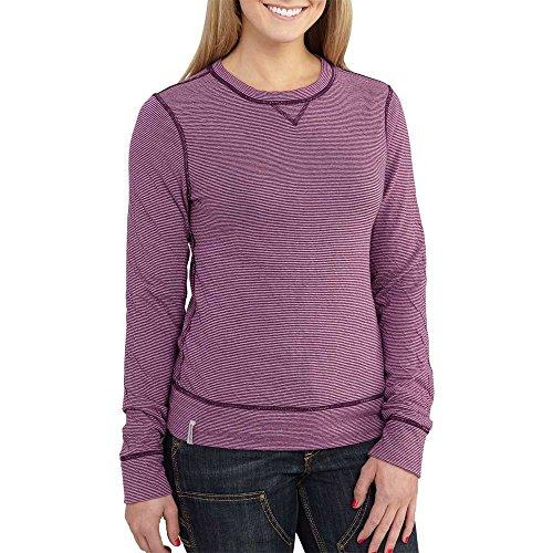 Carhartt Women's Pondera Crewneck Shirt, Potent Purple Heather, Medium ()