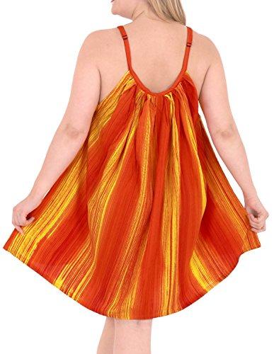 La Leela Beachwear des femmes, plus de chaise longue taille légère couverture bikini tunique jaune Ups casuals