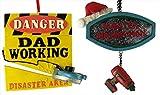Set Of 2 Master Handyman Dad Christmas Ornaments