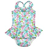 i play. Baby Girls' 1pc Ruffle Swimsuit W/Built-In