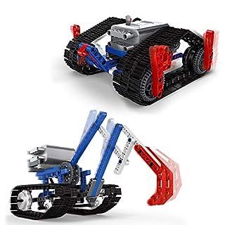 Building Bricks STEM Toys Kit - ROTERDON 339 Pcs Car 2 in 1 Assembling Excavator & Assemble Track Robot Take Apart STEAM Toys Power Machinery Kits for Kids Teens