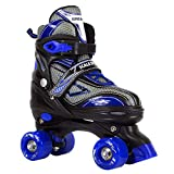 Scale Sports Adjustable Roller Skates for Kids Teen and Men Large Size Blue