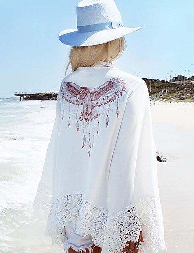 HHBO De las mujeres Pareado-Color ¨²nico Sin Soporte / Sujetador sin Acolchado-Halter-Poli¨¦ster , white , one-size White