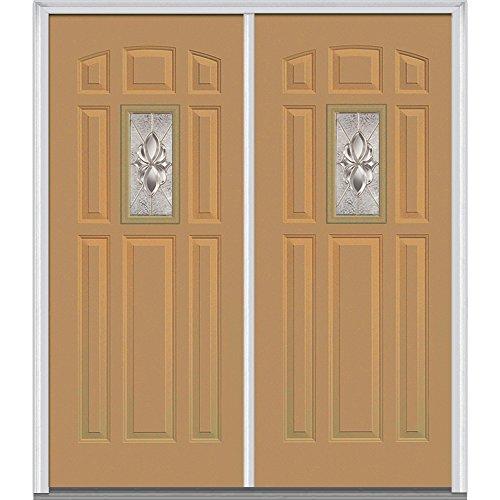 National Door Company Z016300L Steel, Sandal, Left Hand In-swing, Exterior Prehung Door, Heirloom Master Center Lite 8-Panel, 64''x80'' by National Door Company