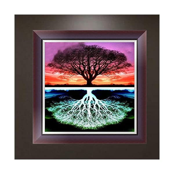 DIY Life of Tree 5D Embroidery Paintings Rhinestone Diamond Painting Kits Pasted DIY Diamond Painting Cross Iuhan  Full Drilled 5D Tree Diamond Painting Kits for Adults and Kids A