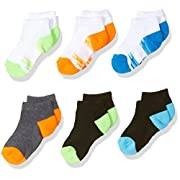 Fruit of the Loom Baby Boys' Low Cut 6 Pack Sock, Assorted, 1.5-4