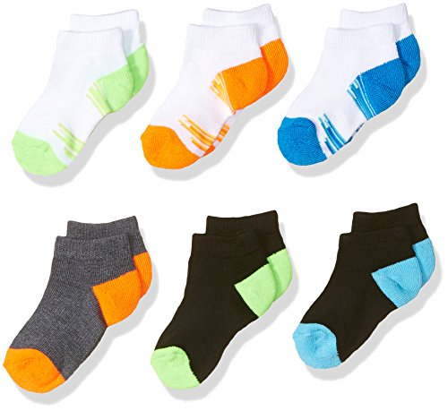 Fruit of the Loom Baby Boys' Low Cut 6 Pack Sock, Assorted, 7.5-11