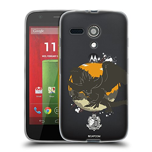 Official Monster Hunter World Nergigante Silhouettes Soft Gel Case for Motorola Moto G (1st - Moto Monster G Case