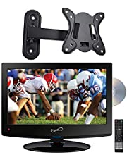 "Supersonic SC-1512 15.6"" HD LED TV Built-in DVD Player with Wall Mount"